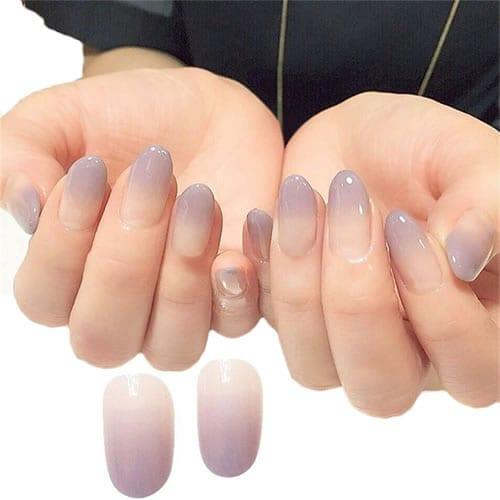 formato das unhas tipos de dedo curto e grosso ombré