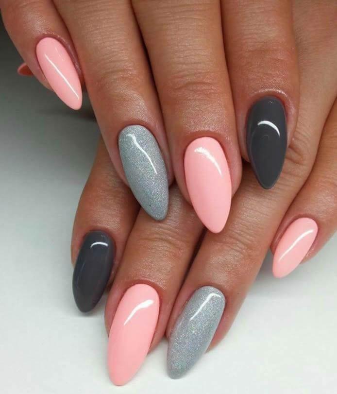 formatos de unha para tipos de dedos longos e finos