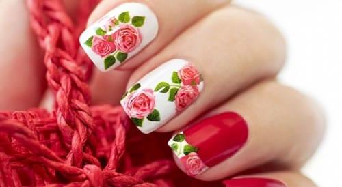 adesivos de unhas rosas