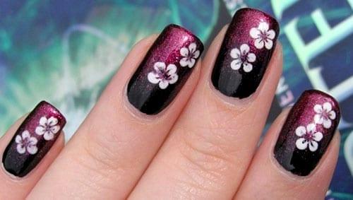 desenhos de unhas flores