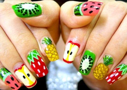 desenhos de unhas com frutas