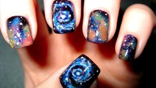 desenhos de unhas cosmos universo