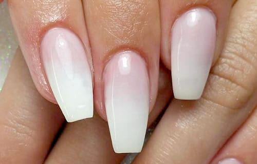 unhas de gel ombré ou degradê