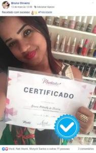 certificado curso de manicure